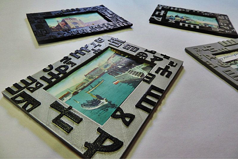 """This is my Cultural Heritage"": Old Postcards Framework Printed by 3D Printer and Inspired by Europeana"