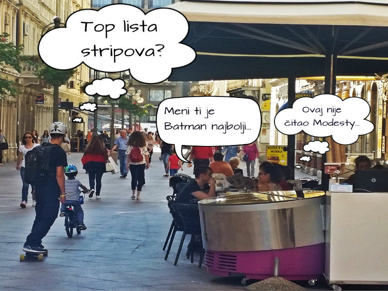 Knjiga do knjige...a strip u centru!: top topova strip preporuka